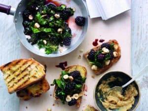 Superberry Kale and Roasted Garlic Bruschetta