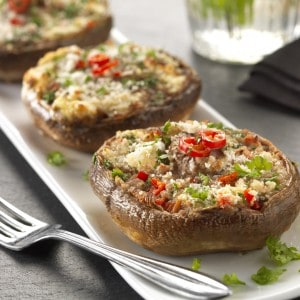 Primula with Ham Stuffed Mushrooms Recipe