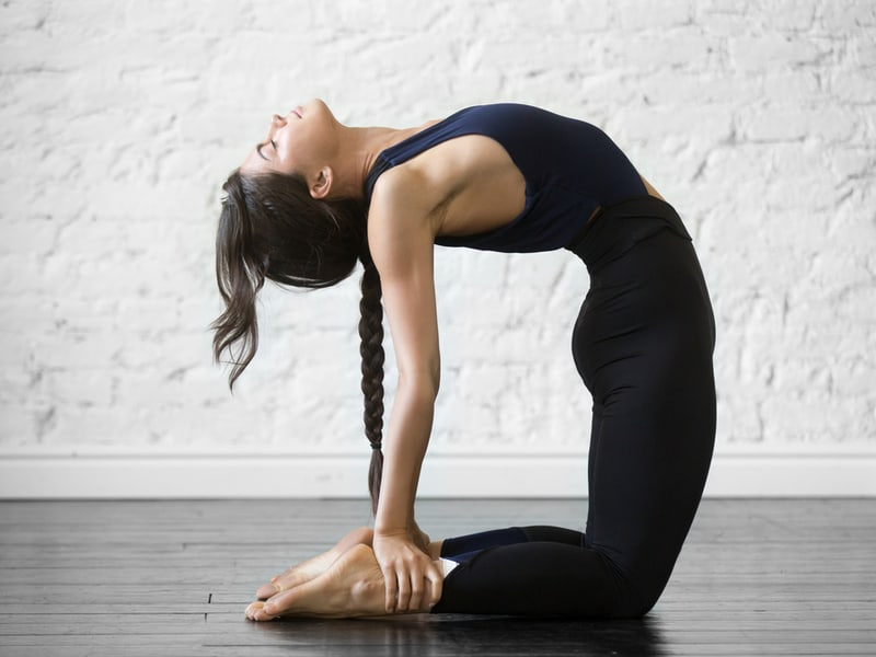 Morning Yoga Poses - Camel Pose