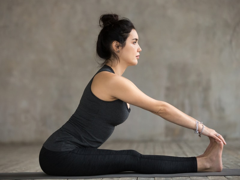 Morning Yoga Poses - Seated Forward Bend