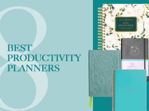 8 Best Productivity Planners