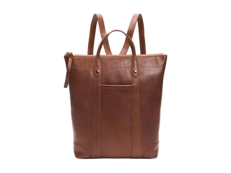 Women's Business Backpacks: Frye Melissa Zip Leather Backpack