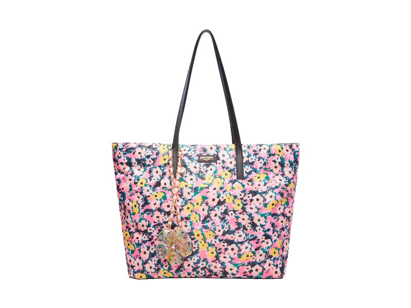 Women's Business Bag: Betsy Johnson - Betsified Tote With Necklace Charm Floral
