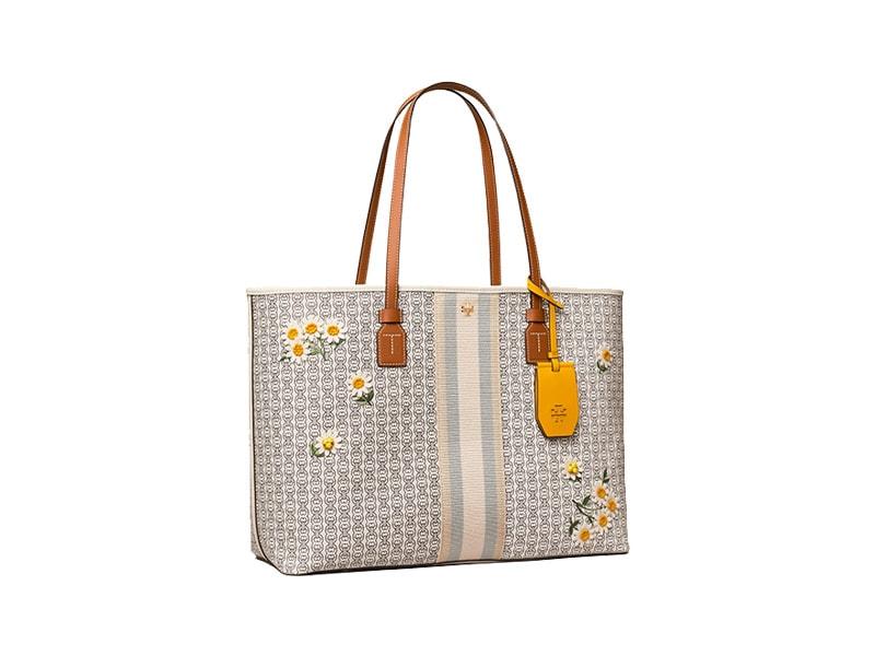 Women's Business Bag: Tory Burch - Gemini Link Canvas Applique-Tote