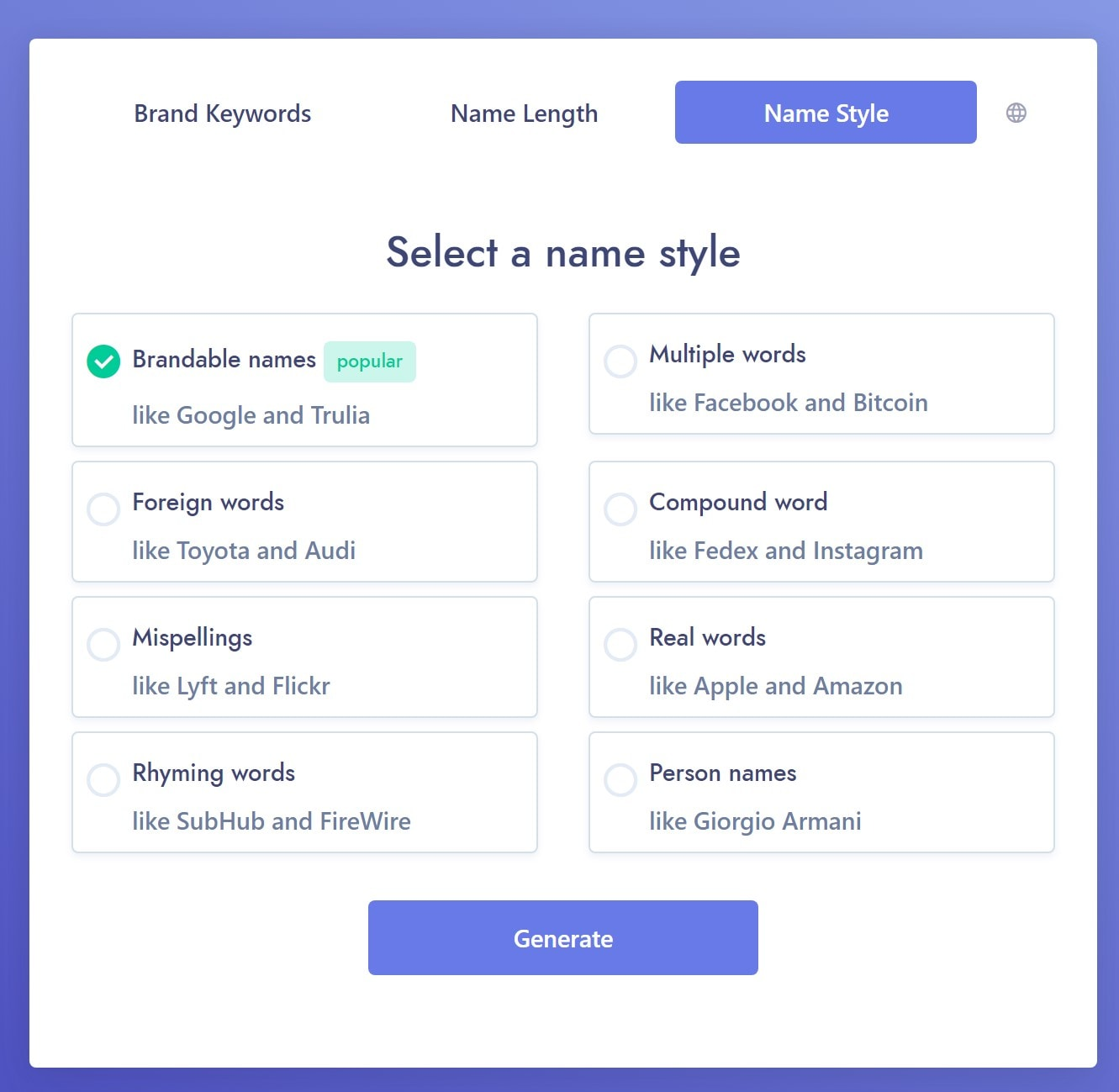 how to name a business: business name generator