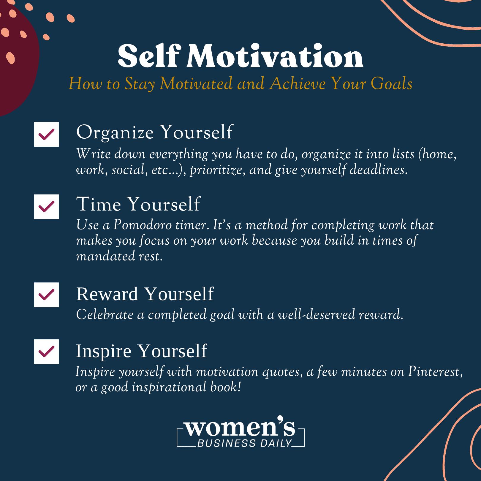 Self motivation checklist
