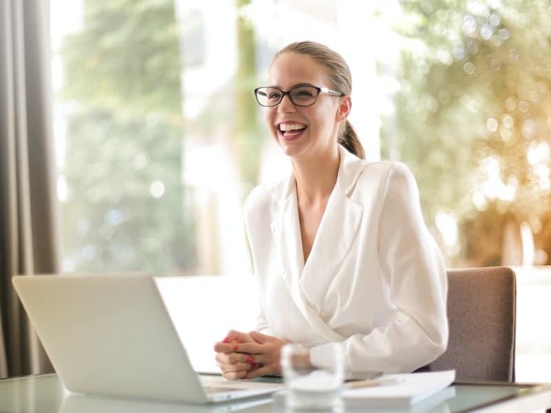 female entrepreneur laptop