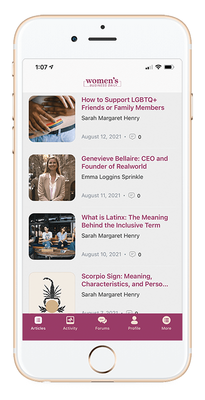 Women's Business Daily Mobile App